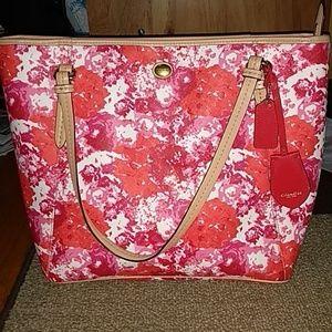 Coach Peyton floral print tote bag